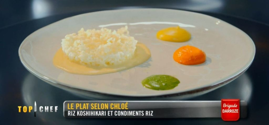 Le plat sur l'épreuve du riz proposé par Chloé. Crédits : M6